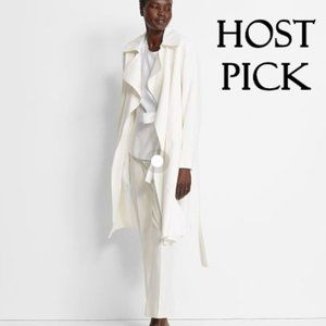 NWT Club Monaco winter white trench coat jacket, M